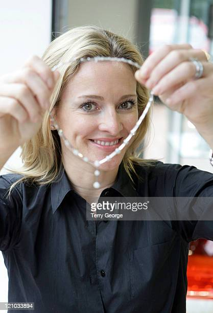 Gabby Logan during Gabby Logan Designs Jewelry Photocall August 14 2006 at Share Jewellers in Leeds Great Britain