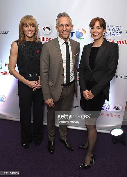 Gabby Logan Gary Lineker and DarceyÊBussell attend the British Airways Flying Start event at BT Tower on November 10 2016 in London England The event...