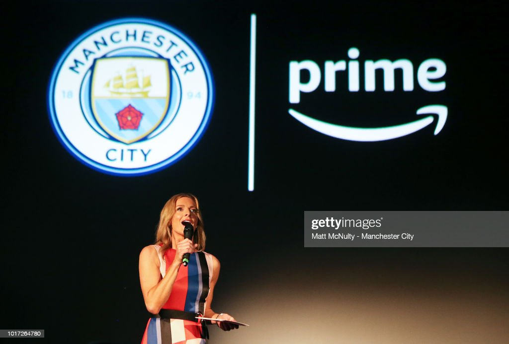 Gabby Logan speaks to the audience at The Printworks on August 15, 2018 in Manchester, England.