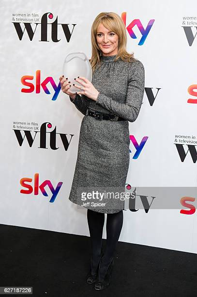 Gabby Logan winner of the Presenter Award at the Sky Women In Film TV Awards at London Hilton on December 2 2016 in London England
