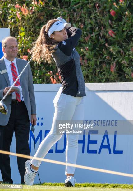 Gabby Lopez drives off of the 1st tee during Round 1 of the 2019 LPGA MediHeal Championship on Thursday May 02 2019 at the Lake Merced Golf Club in...