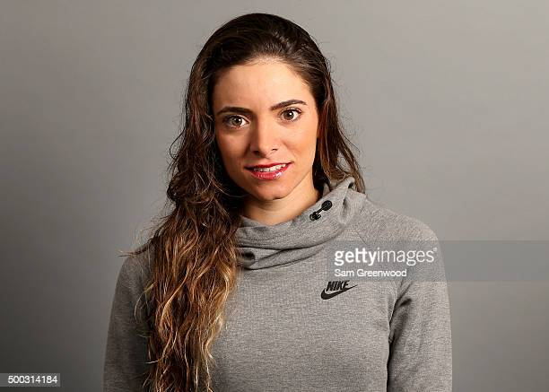 Gabby Lopez of Mexico poses for a portrait at LPGA Headquarters on December 7 2015 in Daytona Beach Florida