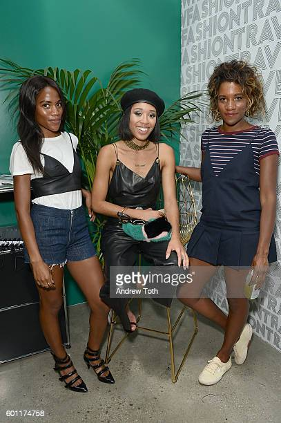 Gabby Prescod Kitty Cash and Gabrielle Prescod attends Lexus Lounge At MADE at Milk Studios on September 9 2016 in New York City