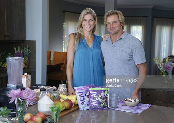 Gabby Reece And Laird Hamilton Fuel With Sambazon on October 19 2016 in Malibu California