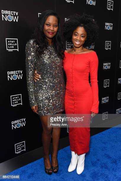 Gabby Shepard and India McGee attend ATT Hello Lab's Mentorship Program Debuts Five Short Films Red Carpet at Hammer Museum on December 1 2017 in Los...
