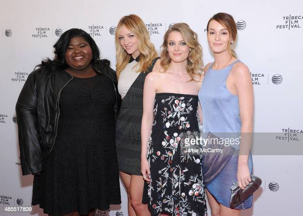 Gabby Sidibe Abby Elliot Gillian Jacob and Leighton Meester attend the 'Life Partners' screening during the 2014 Tribeca Film Festival at SVA Theater...