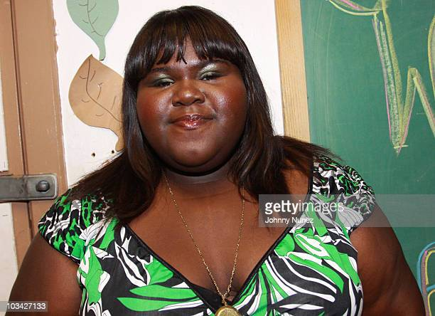 Gabby Sidibe attends a special screening of 'Life Is Precious' at Herbert Von King Cultural Arts Recreational Center on August 17 2010 in New York...
