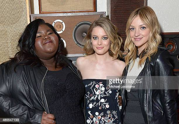 Gabby Sidibe Gillian Jacobs and Abby Elliot attend the Life Partners Premiere after party during the 2014 Tribeca Film Festival at Liberty Hall on...