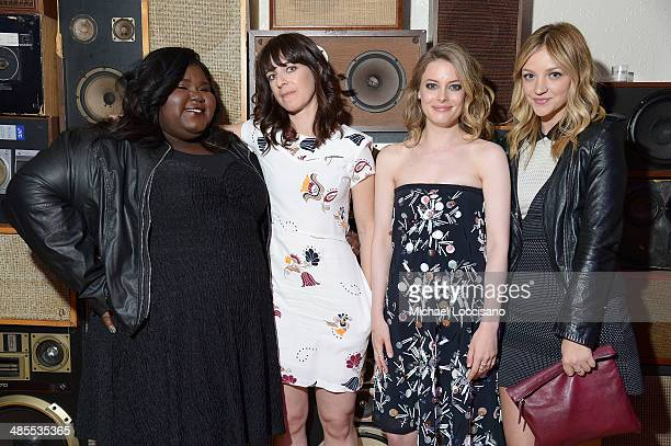 Gabby Sidibe Susanna Fogel Gillian Jacobs and Abby Elliot attend the 'Life Partners' Premiere after party during the 2014 Tribeca Film Festival at...
