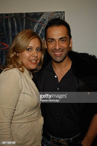 Gabby Tamayo and Eduardo Lucero attend Elisabeth Rohm and 7th on Sixth host Hurricane Relief Benefit on occasion of artist Hunt Slonem's new exhibit...