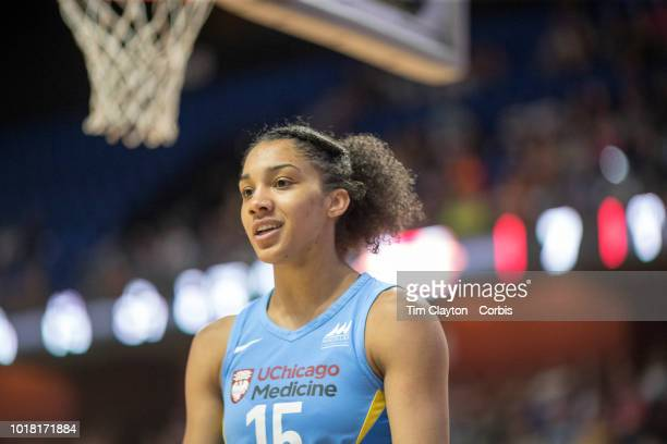 Gabby Williams of the Chicago Sky during the Connecticut Sun Vs Chicago Sky WNBA regular season game at Mohegan Sun Arena on August 12 2018 in...
