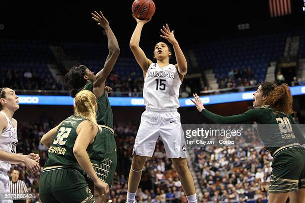 Gabby Williams UConn shoots during the UConn Huskies Vs USF Bulls Basketball Final game at the American Athletic Conference Women's College...