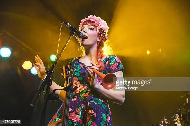 Gabby Young of Gabby Young and Other Animals performs on stage at Scala on May 11 2015 in London United Kingdom