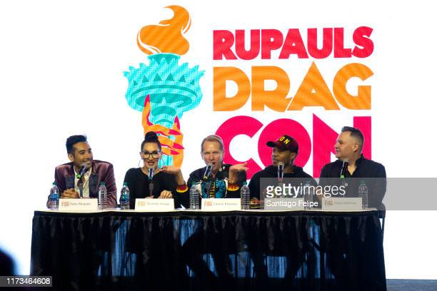 Gabe Bergado Michelle Visage Carson Kressley Todrick Hall and Ross Mathews at RuPaul's DragCon 2019 at The Jacob K Javits Convention Center on...