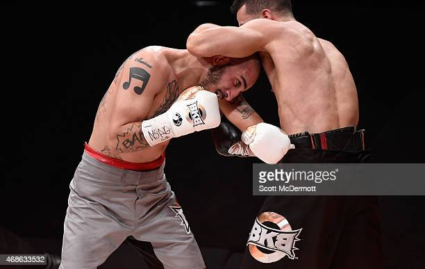 Gabe Duluc fights Antonio Canas during BKB 2 Big Knockout Boxing at the Mandalay Bay Events Center on April 4 2015 in Las Vegas Nevada