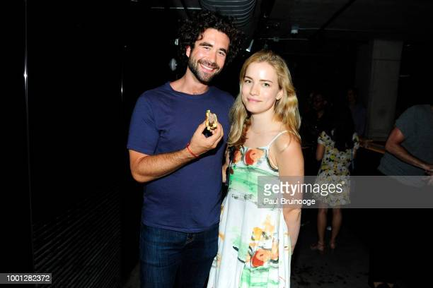 Gabe Kennedy and Willa Fitzgerald attend Lionsgate With The Cinema Society Host The After Party For 'Blindspotting' at Public Arts at Public on July...