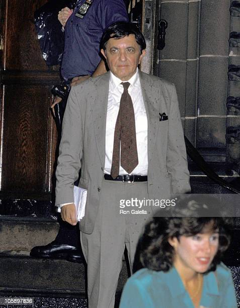 Gabe Pressman during Funeral for Gloria Vanderbilt's Son, Carter Cooper - July 26, 1988 at St. James Episcopal Church in New York City, New York,...