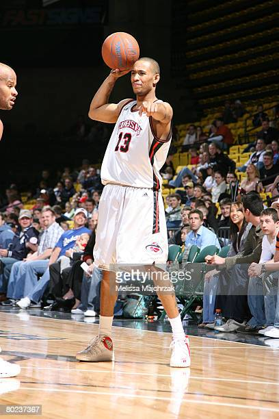 Gabe Pruitt of the Utah Flash calls out directions during the game against the Idaho Stampede on March 13, 2008 at the David O. McKay Events Center...