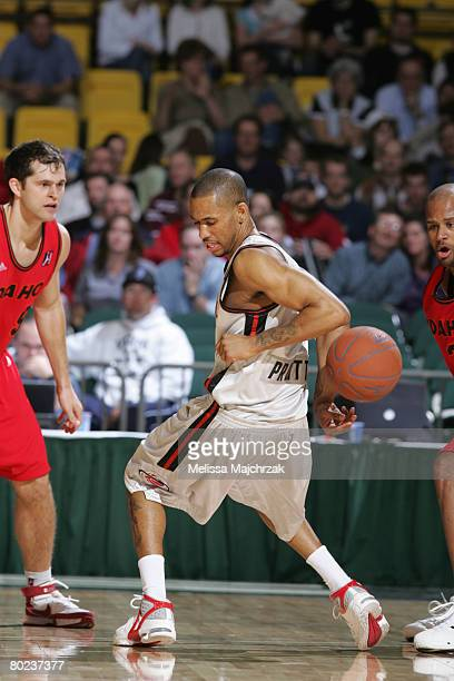 Gabe Pruitt of the Utah Flash tries to keep control of the ball during the game against the Idaho Stampede on March 13, 2008 at the David O. McKay...