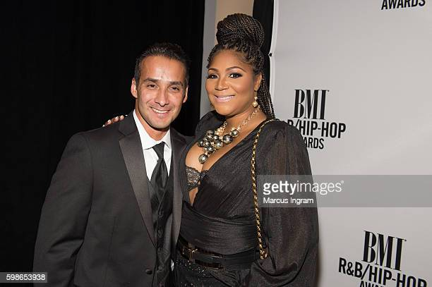 Gabe Soils and Trina Braxton attends the 2016 BMI RB/HipHop Awards at Woodruff Arts Center on September 1 2016 in Atlanta Georgia