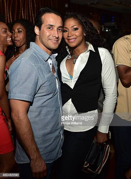 "Gabe Solis and Trina Braxton attend the after party for the ""Think Like A Man Too"" premiere at Suite Food Lounge on June 11, 2014 in Atlanta, Georgia."