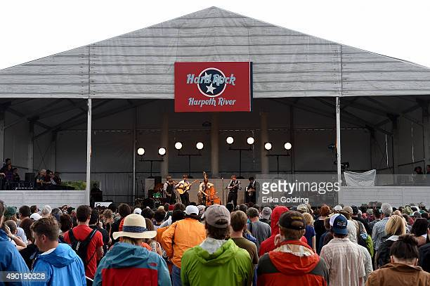Gabe Witcher Chris Eldridge Paul Kowert Chris Thile and Noam Pikelny of Punch Brothers perform onstage during Pilgrimage Music Cultural Festival on...