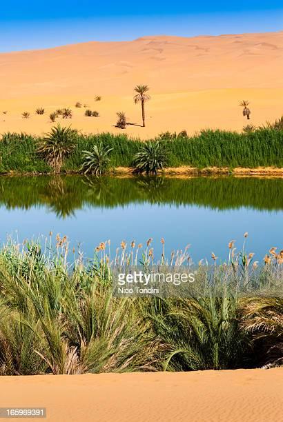 Gaberoun salt lake, Mandara, Sahara, Libya