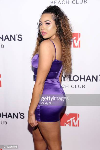 Gabi Andrews attends MTV's 'Lindsay Lohan's Beach Club' Premiere Party at Moxy Times Square on January 7 2019 in New York City