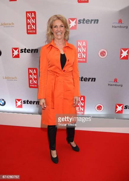 Gabi Bauer during the Henri Nannen Award red carpet arrivals on April 27 2017 in Hamburg Germany
