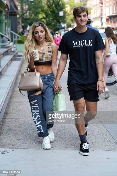 Gabi DeMartino and Collin Vogt are seen on September 12, 2021 in New York City.