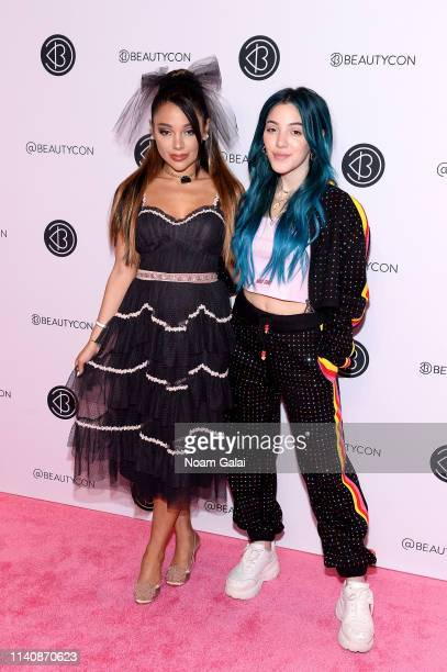 Gabi Demartino and Niki Demartino attend Beautycon Festival New York 2019 at Jacob Javits Center on April 06 2019 in New York City