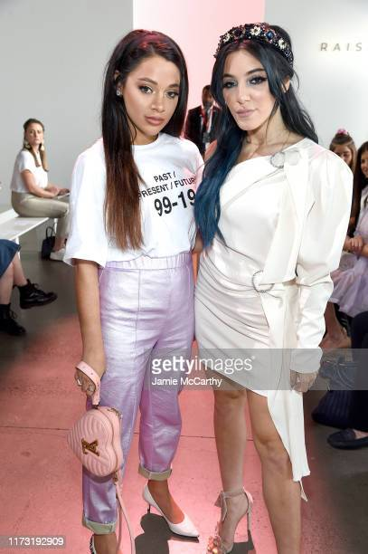 Gabi Demartino and Niki Demartino attend the Raisavanessa front row during New York Fashion Week The Shows at Gallery I at Spring Studios on...