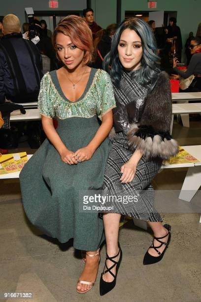 Gabi DeMartino and Niki Demartino attend the Son Jung Wan fashion show during New York Fashion Week The Shows at Gallery I at Spring Studios on...