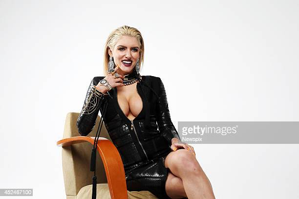 Gabi Grecko, partner of Geoffrey Edelsten, poses during a photo shoot at News Corp studios, Surry Hills on July 17, 2014 in Sydney, Australia.