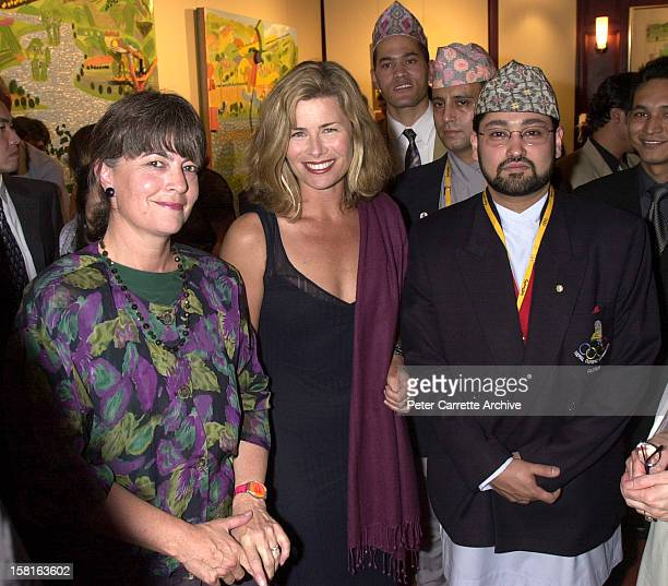 Gabi Hollows Deborah Hutton Crown Prince Dipendra of Nepal attend a Fred Hollows Foundation function on September 29 2000 in Sydney Australia