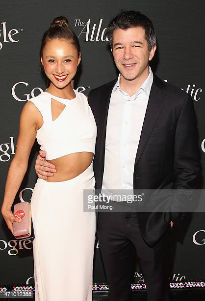 Gabi Holzwarth and Travis Kalanick attend Google and the Atlantic White House correspondents' party at Constitution Gardens on the National Mall on...