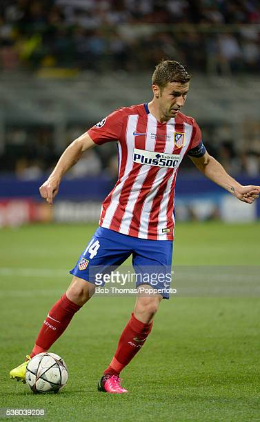 Gabi in action for Atletico Madrid during the UEFA Champions League Final match between Real Madrid and Club Atletico de Madrid at Stadio Giuseppe...
