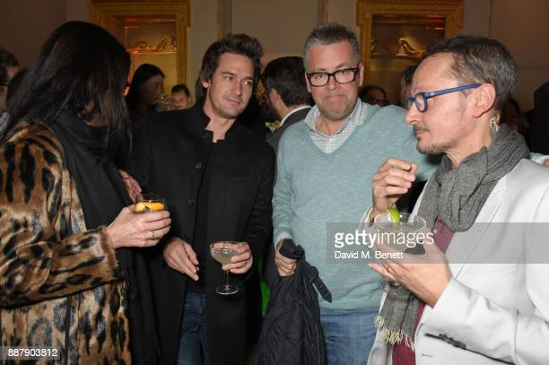 Gabi Kemp WIll Kemp guest and Jonathan Yeo attend a private view of new exhibition 'From Life' at The Royal Academy of Arts on December 7 2017 in...