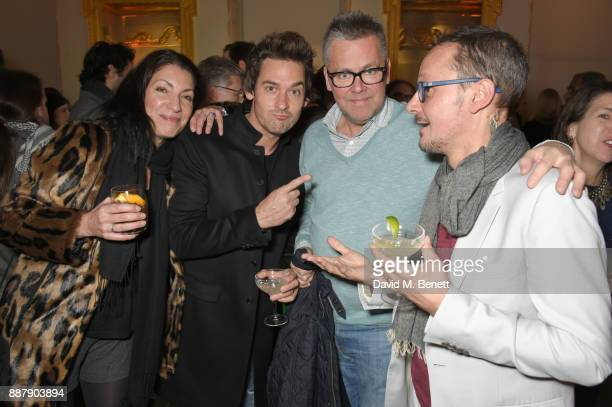 "Gabi Kemp, WIll Kemp, guest and Jonathan Yeo attend a private view of new exhibition ""From Life"" at The Royal Academy of Arts on December 7, 2017 in..."
