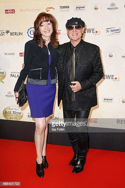 Gabi Meine and Klaus Meine attend the 1st Act Now Jugend Award at FriedrichstadtPalast on November 2 2015 in Berlin Germany