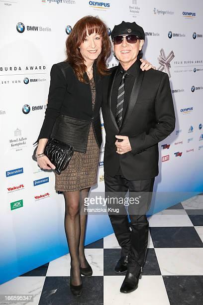 Gabi Meine and Klaus Meine attend the Felix Burda Award 2013 at Hotel Adlon on April 14 2013 in Berlin Germany