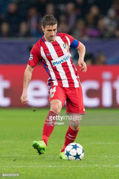 Gabi of Atletico Madrid controls the ball during the UEFA Champions League Round of 16 first leg match between Bayer Leverkusen and Club Atletico de...