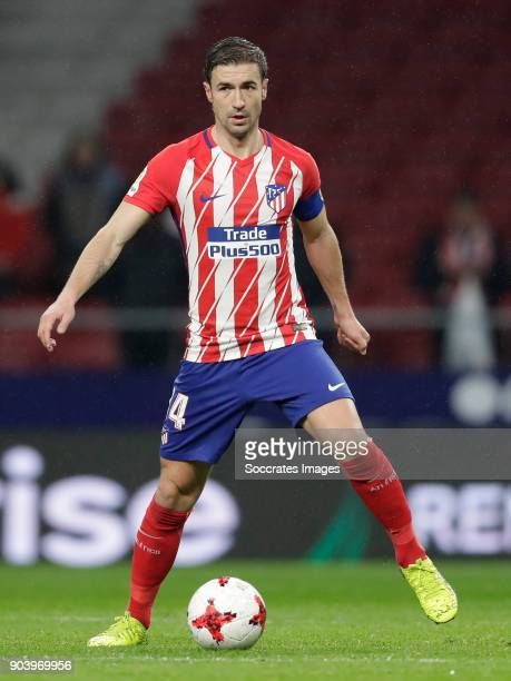 Gabi of Atletico Madrid during the Spanish Copa del Rey match between Atletico Madrid v Lleida on January 9 2018
