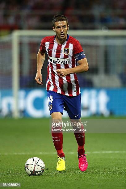 Gabi of Atletico Madrid in action during the UEFA Champions League final match between Real Madrid and Club Atletico de Madrid at Stadio Giuseppe...