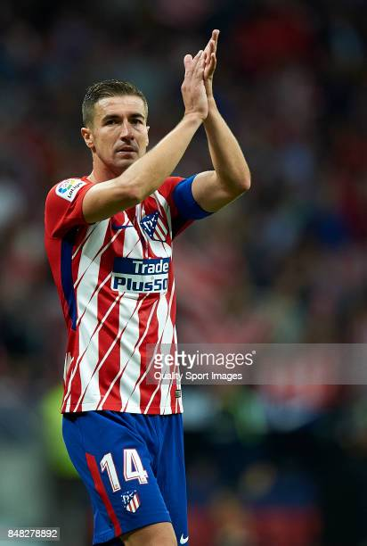 Gabi of Atletico Madrid looks on at the end of the La Liga match between Atletico Madrid and Malaga at Wanda Metropolitano stadium on September 16...