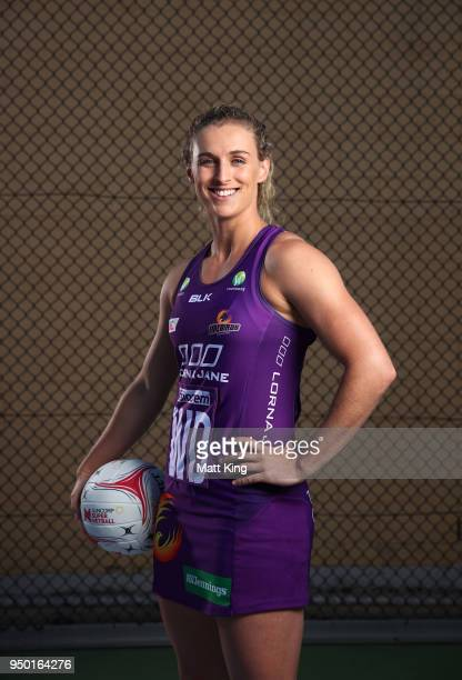 Gabi Simpson of the Queensland Firebirds poses during the Suncorp Super Netball 2018 season launch on April 23 2018 in Sydney Australia