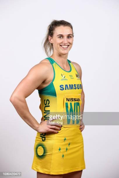 Gabi Simpson poses during the Australian Diamonds headshots session at the AIS on September 10 2018 in Canberra Australia