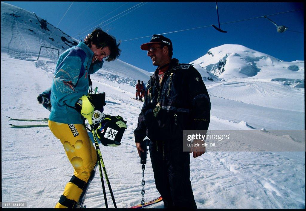 Gabi Zingre With Vittorio Ferrari 1995 News Photo Getty Images