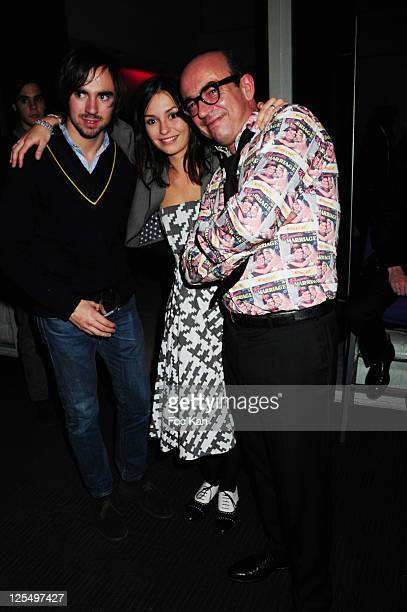 Gabin Tellenne his sister actress Anais Tellenne and their father TV presenter Karl Zero attend the Karl Zero DJ set party at the Hotel Murano on...