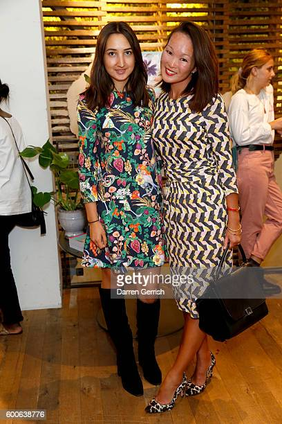 Gabirela Fones and Mariko Kuo attend the book launch of Matthew Williamson Fashion Print Colouring by Laurence King Publishing at Anthropologie on...